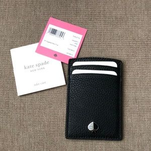Kate Spade pebble Leather Polly Card Holder